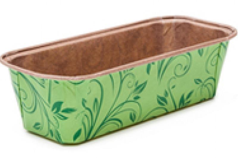 Envase Queque Rectangular Verde