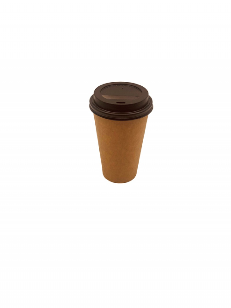 Vaso Café Simple 16oz Tapa Negra